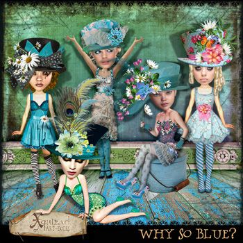 Why So Blue? Art-dolls