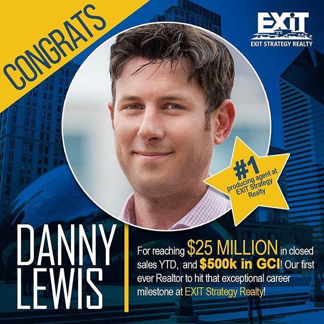 We are all in awe of the amazing Danny Lewis at EXIT Strategy Realty daily, but today is extra special. While he's been our #1 agent for years, he now passes another industry milestone that only a RARE few do—$25 MILLION in sales YTD and 500k GCI for the year. We are tremendously proud of him, lucky to learn from him, and look forward to supporting his many record setting events to come!  #LewisRealEstateGroup #TeamEXITStrategy #localrealtors - posted by Nick Libert…