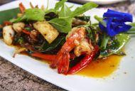 Thai Seafood: Pad Kaprow Koong