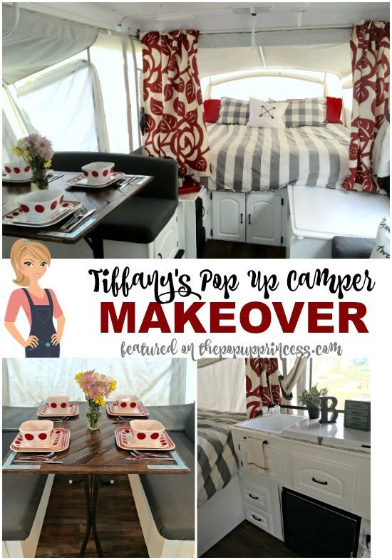 Tiffany was inspired by all the pop up camper makeovers here on The Pop Up Princess, but her end result looks completely original.  Gorgeous!