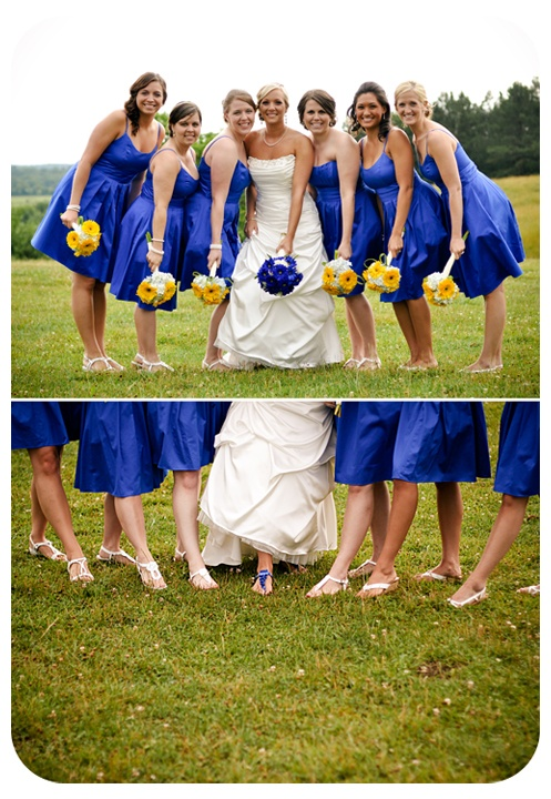 blue and yellow/ shoes cobalt wedding Without the yellow flowers. I just like the shoes picture!!