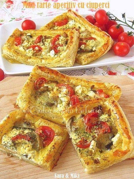 Mini tartele aperitiv se prepara din aluat foietaj facut in casa sau cumparat, ciuperci, branzeturi si orice gasiti in frigider. Se prepararapid si usor, sunt gustoase si aspectuoase si de …