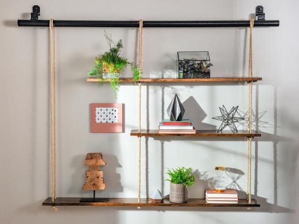 How To Make Rope Shelving Wall Decor Bedroom Handmade Home Decor Home Decor