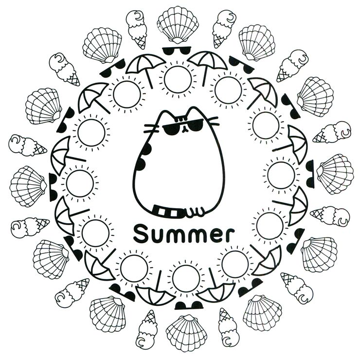 pusheen coloring book pusheen pusheen the cat - Coloring Pages Kitty Summer