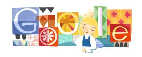 On Oct 21, 2011 Google honors the life of Mary Blair with an adorable Google doodle to celebrate Blair's 100th birthday.