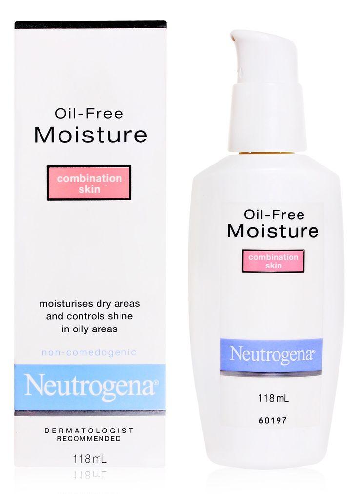 Neutrogena Oil-Free moisturizer Combination Skin. My drugstore go to moisturizer. The gel formula is perfect for my oily skin.