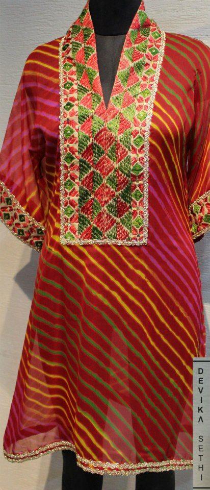 Bright colourful- Embroidered Kurta