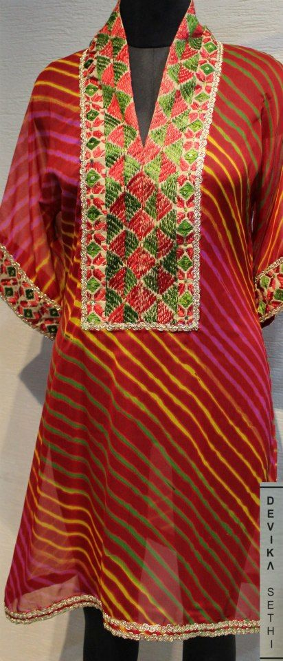 Bright colourful- Embroidered Kurta