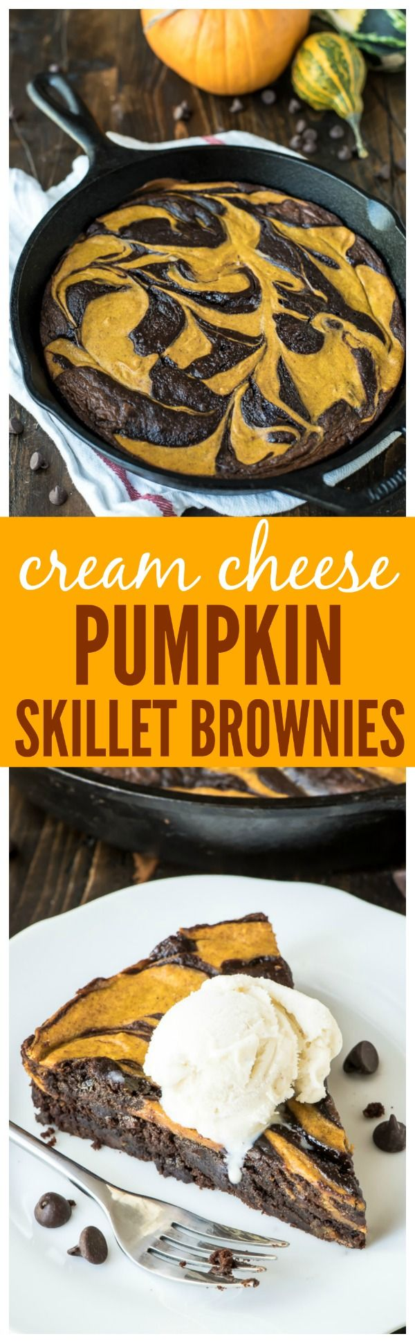 Best Ever Pumpkin Brownies. Pumpkin cheesecake swirled with a fudgy brownie to make the best ever pumpkin dessert recipe!