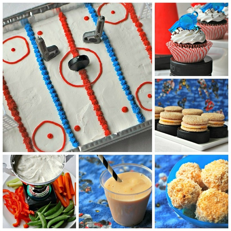 If you're going to throw a party it might as well be a hockey party! Such a great idea :)