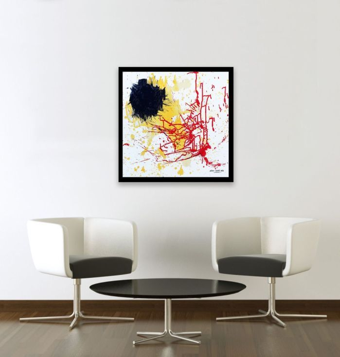 Buy Fireworks, Acrylic painting by Ninah Mars on Artfinder. #art #buyart #homedecor #interiordesign #abstract #painting #abstractpainting
