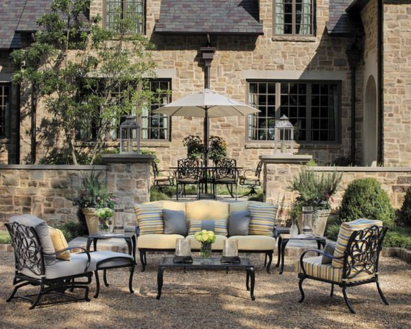Comfortable Traditional Cast Aluminum Outdoor Patio Sofa and Lounge Chairs Design - About Cast Aluminum Outdoor Patio Furniture Collections
