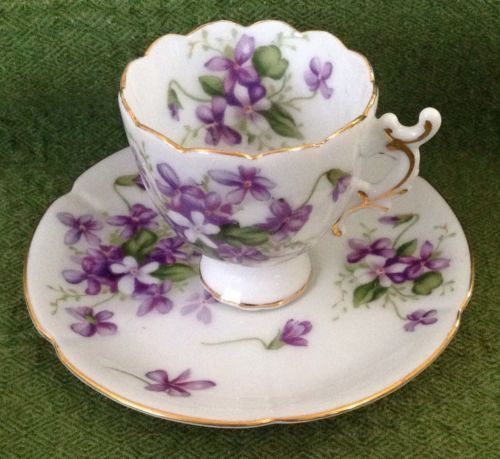 "Occupied Japan Collectibles ROSSETTI ""Spring Violets"" Tea Cup and Saucer Set"
