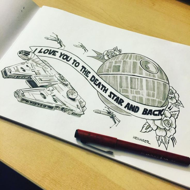 Brian Kesinger's I love you to the Death Star and Back - http://www.bkartonline.com/