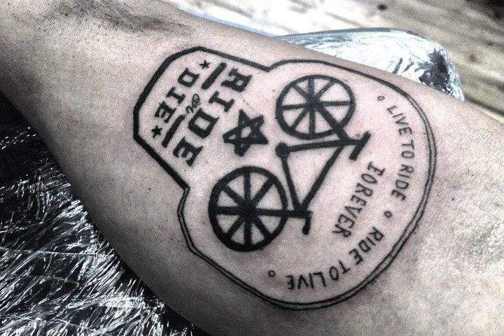 Ride or die. Bike tattoo HAHAHAHA FUNNY bc I suck at riding bikes