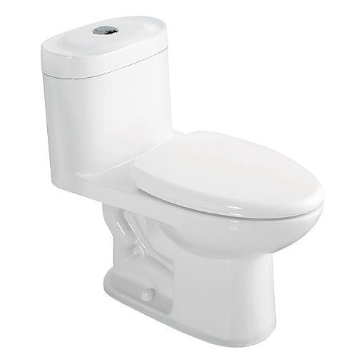 Elongated 1-Piece Toilet