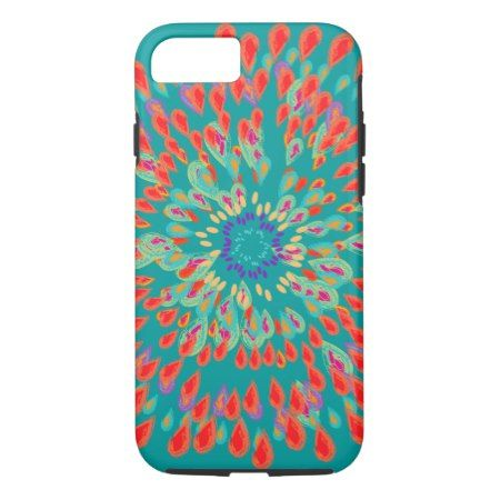 Monogram Modern Flower Teal iPhone Case - click/tap to personalize and buy