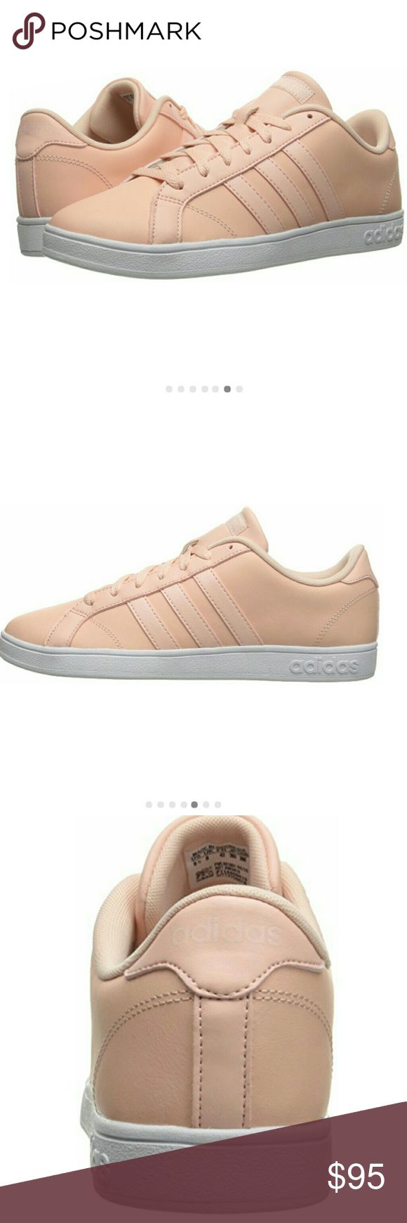 NWT Adidas NEO baseline vapor pink Clean, court-inspired fashion. These girls' shoes show off a performance-ready look in leather. Classic color combinations give them timeless style. NEW WITH BOX Shoes Sneakers
