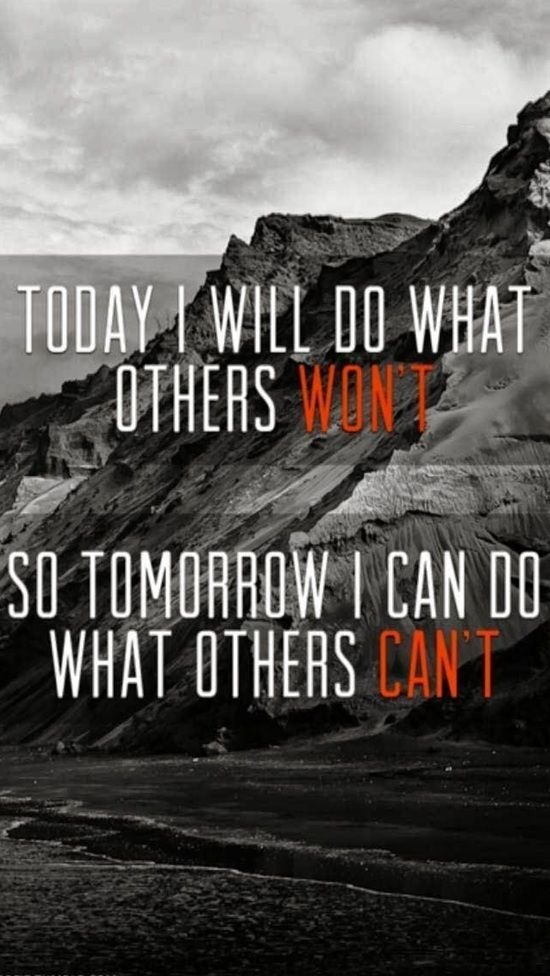 Tomorrow I Can Do What Others Can't