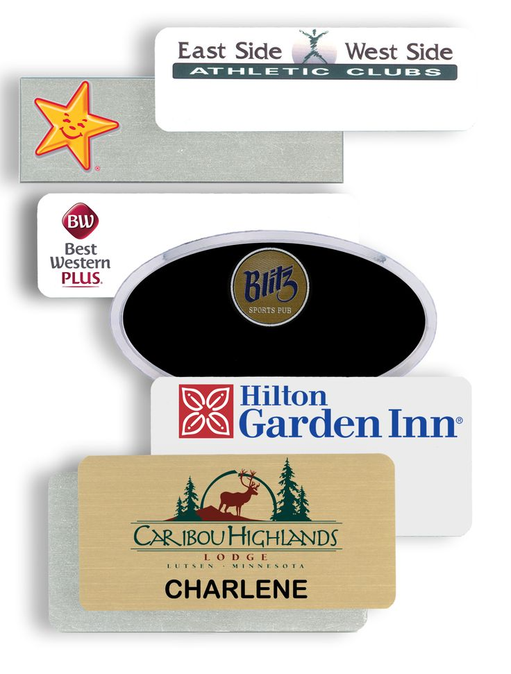 Plastic Name Tags and Plastic name badges contribute to corporate branding by adding the business logo to every employee in the company.