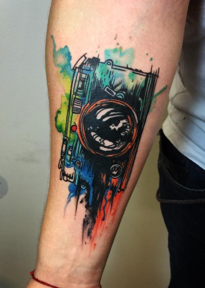 My new watercolor tattoo. Tattoo by Lili Wonderland Tattoo #aquarell #tattoo #watercolor #camera