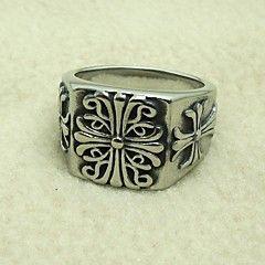 legal da forma do projeto de titânio vintage anéis de instrução dos homens de aço (1 ... – EUR € 7.99
