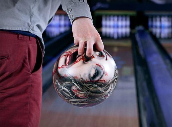 Zombie head bowling  ball!!!