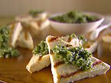 ... grilled Tofu w/ Asiago & Walnut Pesto (could serve w/ any pesto