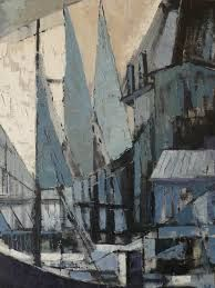 Cubist style built environment painting
