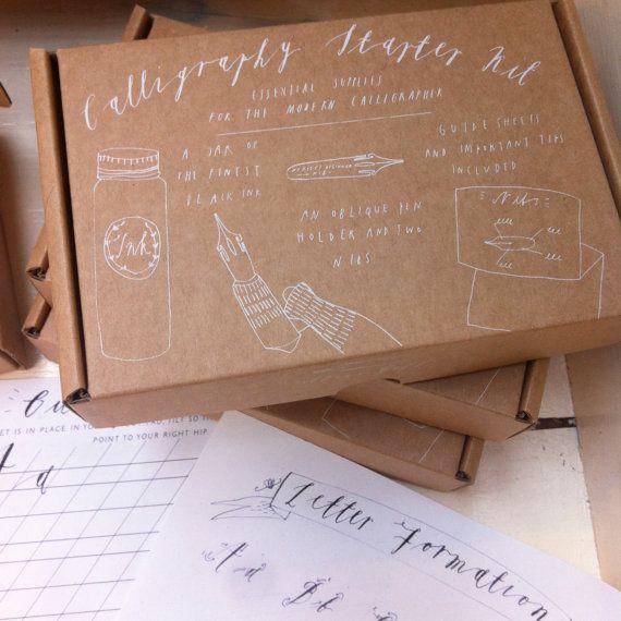 Calligraphy Starter Kit PRE-ORDER van alicegabb op Etsy