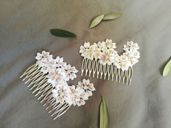 Check out this item in my Etsy shop https://www.etsy.com/listing/519813829/bridal-hair-comb-peony-hair-comb-white