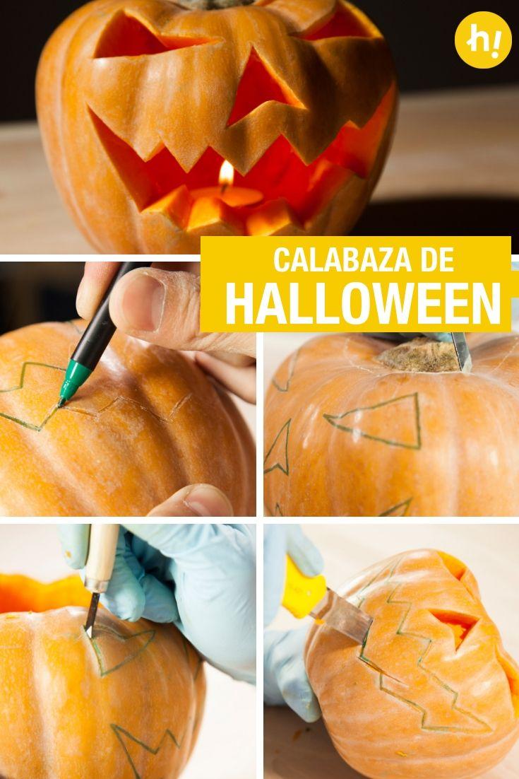 Cómo Hacer Una Calabaza De Halloween Como Hacer Calabazas Calabazas De Halloween Calabaza De Miedo