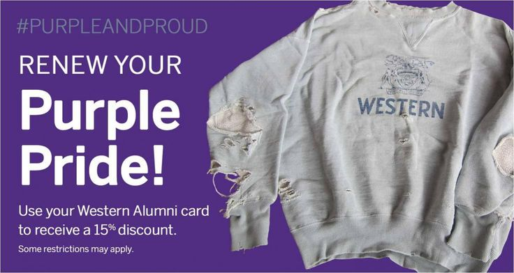 Western Alumni? Renew your Purple Pride!
