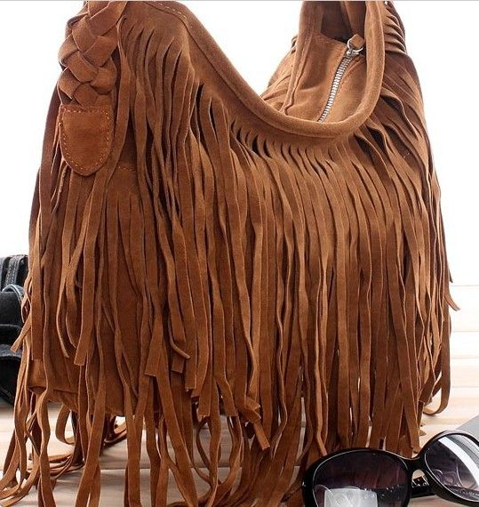 Image result for leather tassel bag