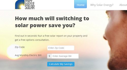 Another Solar Calculator that Demonstrates Savings, Earning Potential: Cost of Solar