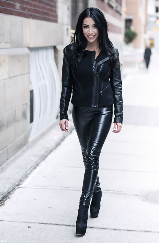 Faux Leather Trousers Leather Pinterest Fall Street
