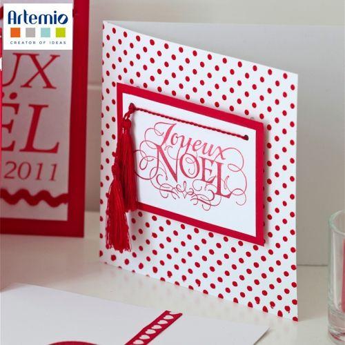 Carte de Noël Clean and simple   Artemio Créateur d'idées