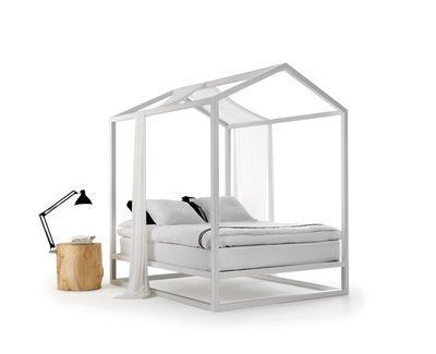 Scopri Lit à baldaquin Casetta in Canadá -/ 213 x 183 x H 235 cm, Bianco di Mogg, Made In Design Italia