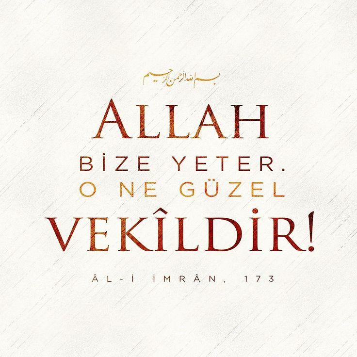 Allah cc bize yeter!   #ayetler #hayırlıcumalar #negüzel #vekil #allahbizeyeter #ayet #islam #müslüman #istanbul #ilmisuffa