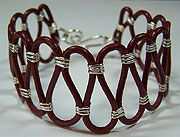 wrapped leather cord bracelet