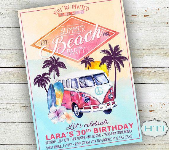Best 25 Beach party invitations ideas – Beach Party Invitation