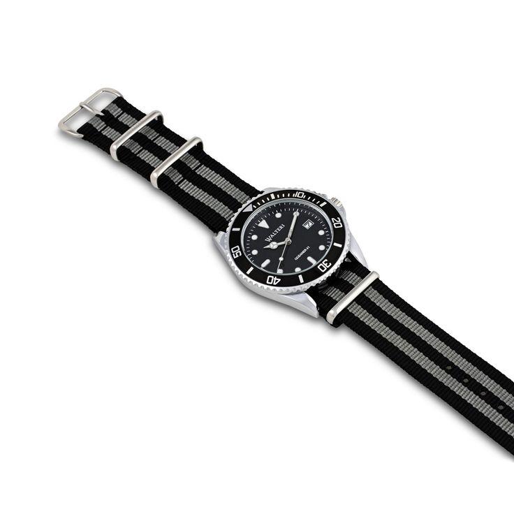 Walteri Oceaner 41 Nato Black  & Grey Watch    watch, mens watches, watches for women, ladies watches, watches for girls, women's watches, branded watches for men, wrist watch __ __ __ __ __ #Walteri #WalteriWatches #Oceaner41 #Watches #Watch #MensWatches #WatchesForWomen #LadiesWatches #WatchesForGirls #WomensWatches #WristWatch #DiveWatches #CoupleWatches #natowatch #natowatches #diverswatch #divewatch #natostrap #BeWalteri #TimeIsOnYourSide #Cool #style