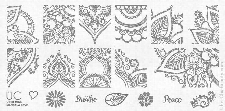 Mandala Love - UberChic Mini Nail Stamp Plates