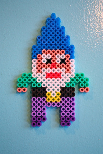 gnome *I don't know why but I find this funny, we used to play with these beads!!! @Ashley Hauber @Jennifer Andalikiewicz