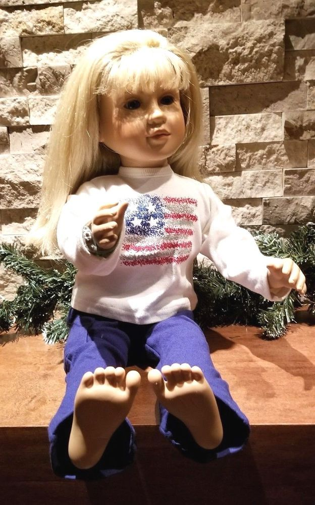 "My Twinn Doll 1999 Blonde Green Eyes Poseable 22"" Tall Girl Toy USA Seller #MyTwinn"