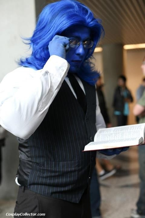 """""""The Beast ~ Cos Play"""" (One of my fave X-Men, I am often disapointed by the lack of love for Beast. His brainyness isn't his mutant power, but it might as well be given how he uses it, and just how brilliant he is."""