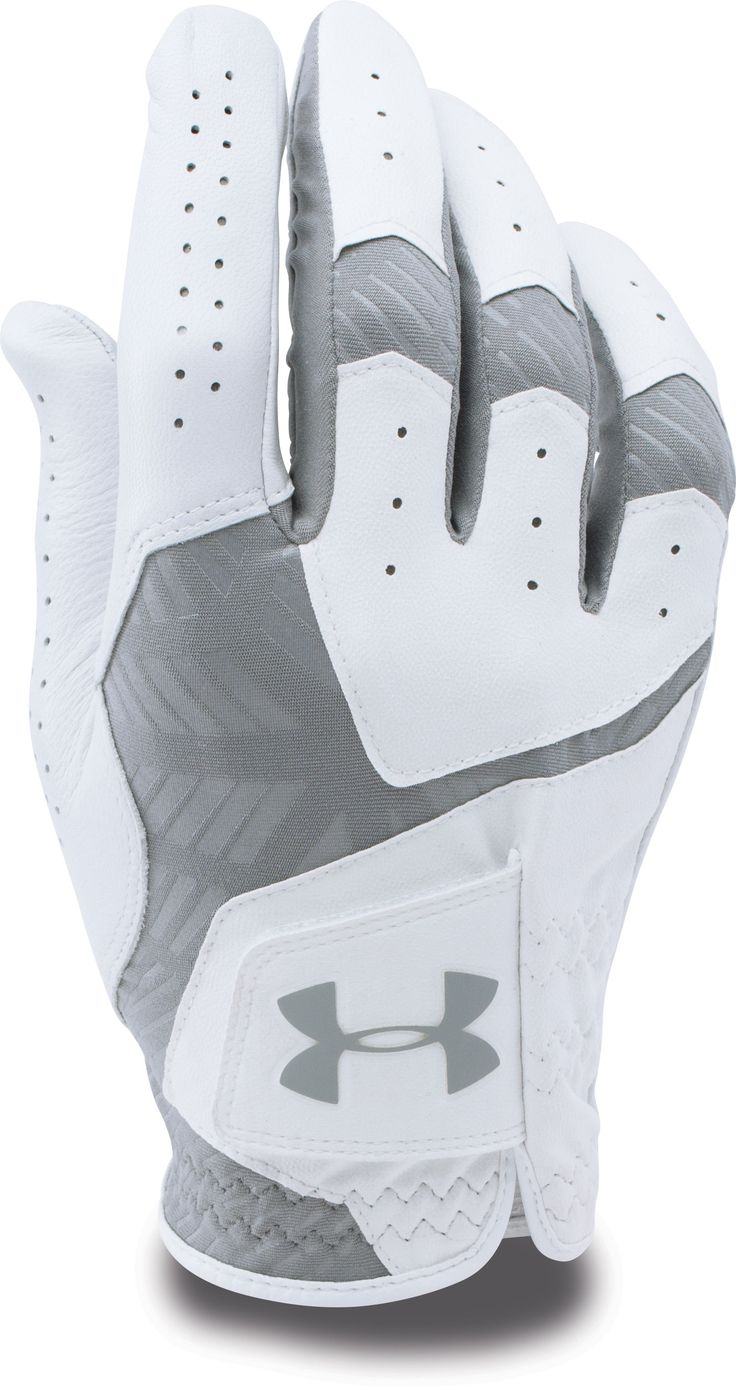 Everything about the Under Armour CoolSwitch Golf Glove is engineered to make you better. CoolSwitch technology uses an exclusive coating to pull warmth away, keeping you comfortably cool, and the Moisture Transport System helps wick sweat away in the heat of the season. Cabretta leather partners with the Premium Grip system to improve grip and durability, and the built-in closure tab promotes a personalized fit all round long. | Golf Galaxy