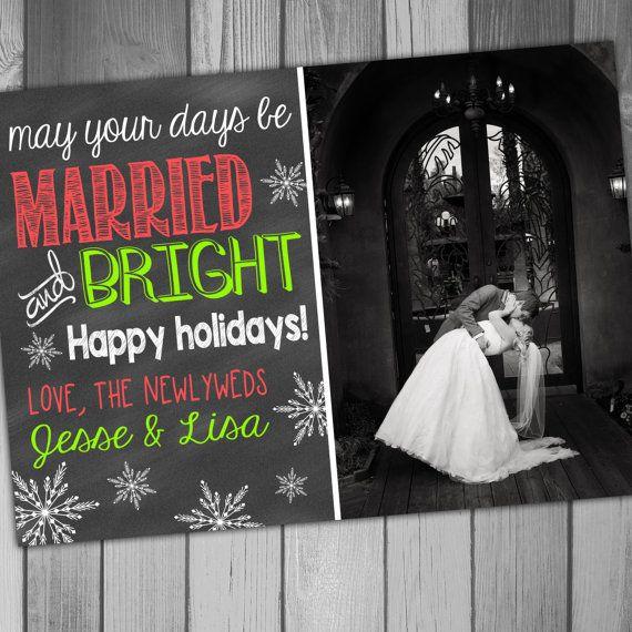 Christmas Photo Card Newlywed Christmas Card Married and