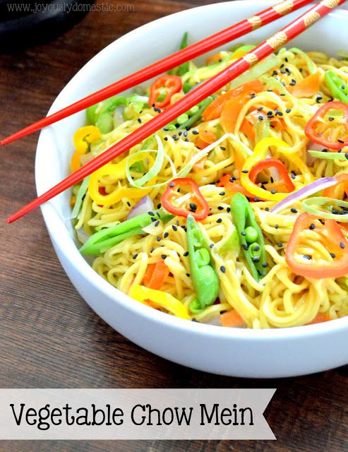 Joyously Domestic: Vegetable Chow Mein