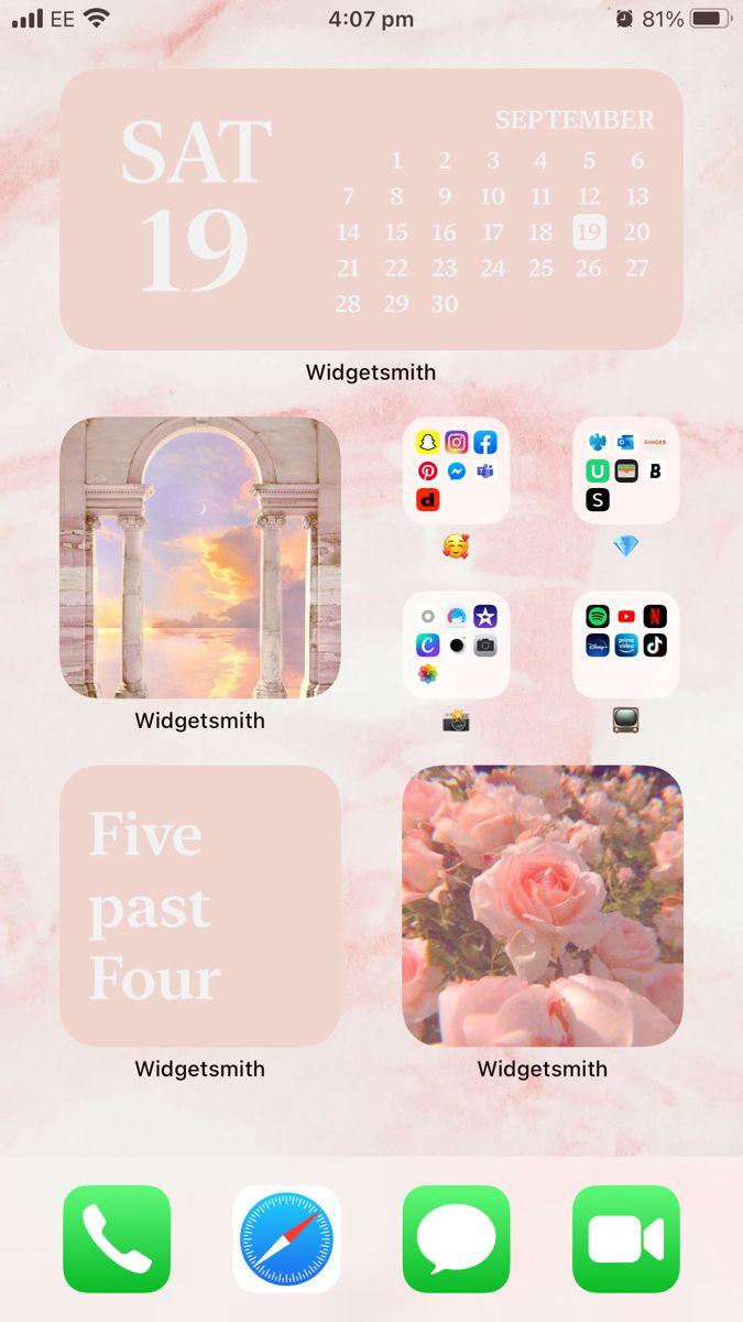Ios 14 Layout Iphone Photo App Iphone Wallpaper App Homescreen Iphone